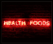 Health Foods Neon Sign